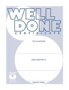 well done certificate template resources