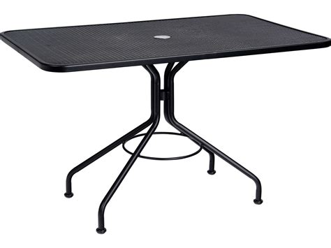 Woodard Wrought Iron 48 X 30 Rectangular Table With Wrought Iron Patio Table