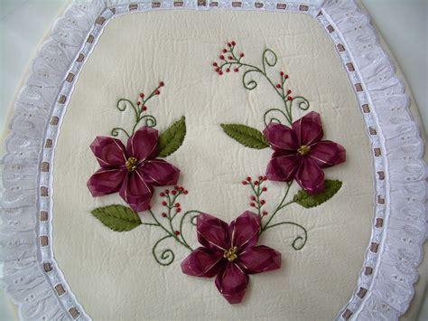 Como Hacer Bordados Con Flores De Liston | juegos de ba 241 o bordados en cinta como hacer flores de