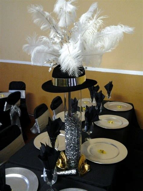church hat centerpieces   Google Search   1920's wedding