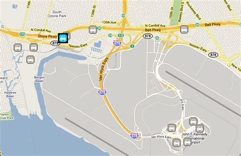 airport long term parking jfk airport parking map