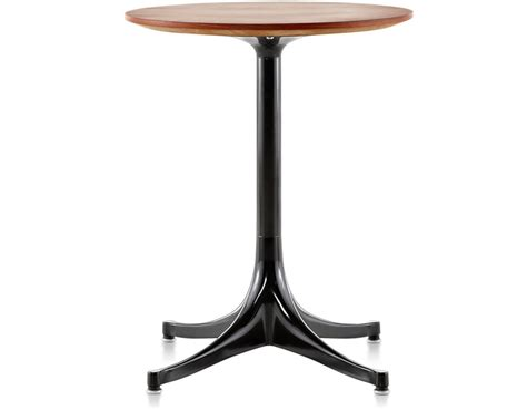 Nelson Pedestal Table nelson pedestal side table hivemodern