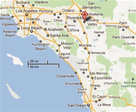 moreno valley california map sighting reports 2011