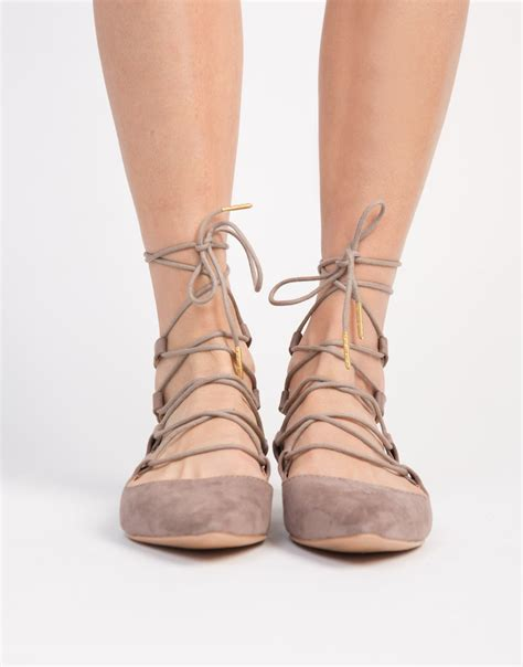 pointy lace up flats lace up ballerina flats brown