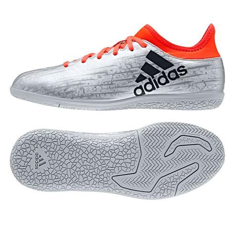 adidas x 16 3 youth indoor soccer shoes silver metallic black solar s79562 adidas