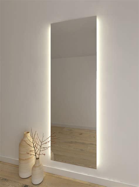 espejo para vestidor espejo vertical liso con luz en ambos lados espejos es