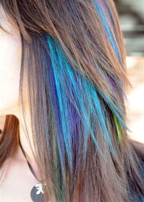temporary highlights for dark hair that washes out temporary hair dye dying tips with colored mascara luv