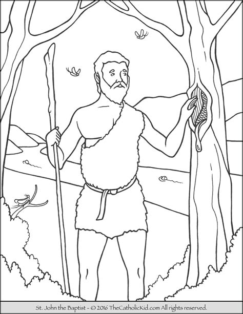 free bible coloring pages of john the baptist saint john the baptist coloring pages the catholic kid