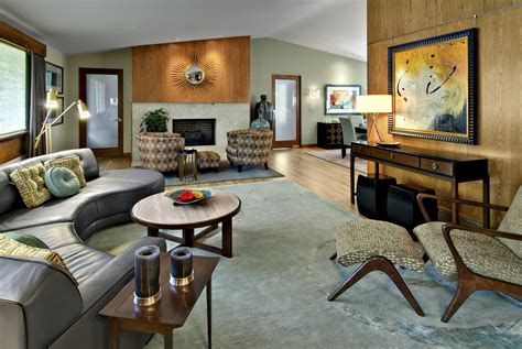 mid century modern living room ideas mid century lounge chair living room modern with ball