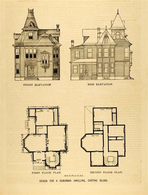 1879 print victorian house architectural design floor 1878 print victorian suburban house architectural design