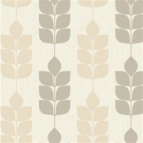 White amp brown modern petals wallpaper midcentury wallpaper by wallaper boulevard