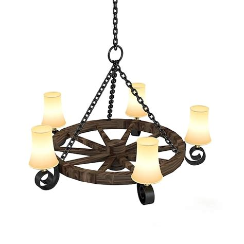 Country Style Chandelier 3d Country Style Chandelier Model
