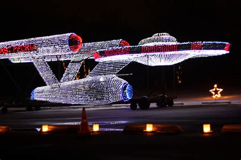 East Peoria Festival Of Lights by Check Out Uss Enterprise In Lights Pictures Amp Video