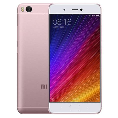 Smile Xiaomi 5s Pink xiaomi 5s 5 15 quot ips dual sim phone 4gb rom 128gb rom matte pink free shipping dealextreme