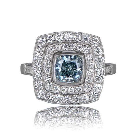 Lu Ring luxembourg ring fancy blue estate jewelry