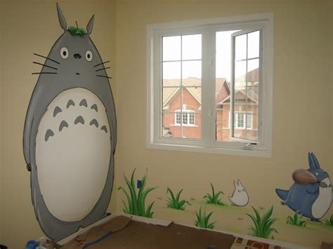 totoro bedroom magic on the wall murals for children totoro and friends