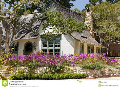 flower design house landscape house flower garden stock photo image of