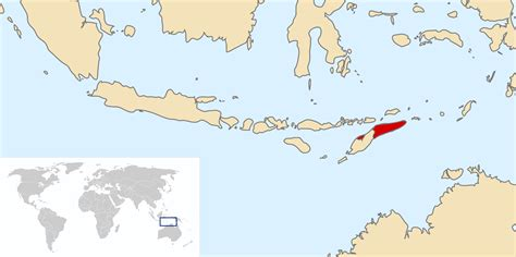 where is east timor on the map location of the east timor in the world map