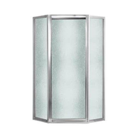 neo angle shower door 70 h shop swanstone 38 in w x 70 in h polished chrome neo angle