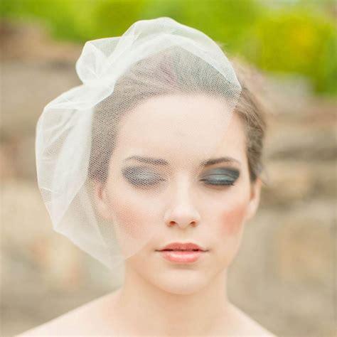 Handmade Birdcage Veil - rustic blusher simple handmade birdcage veil bridal hair