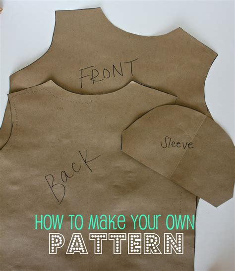 How To Make A Paper Pattern For Sewing - your own pattern a tutorial sweet verbena