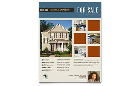 real estate for sale flyer template real estate flyer templates word publisher