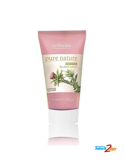 Nature Clay Mask Oriflame oriflame nature organic burdock extract purifying
