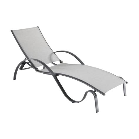 sunbrella sling chaise lounge hton bay commercial grade aluminum light gray outdoor