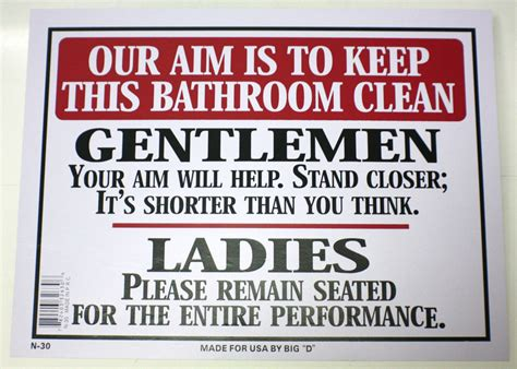keep bathroom clean sign our aim is to keep bathroom clean men women toilet novelty