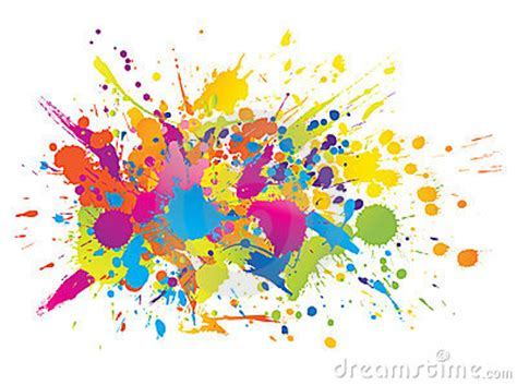Tinta Batik Colourful Bright Ink Splashes Stock Photography Image