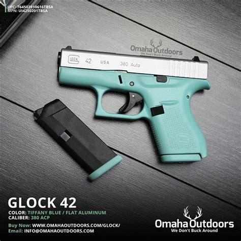 colored handguns glock 42 g42 blue 380 acp mint teal new semi