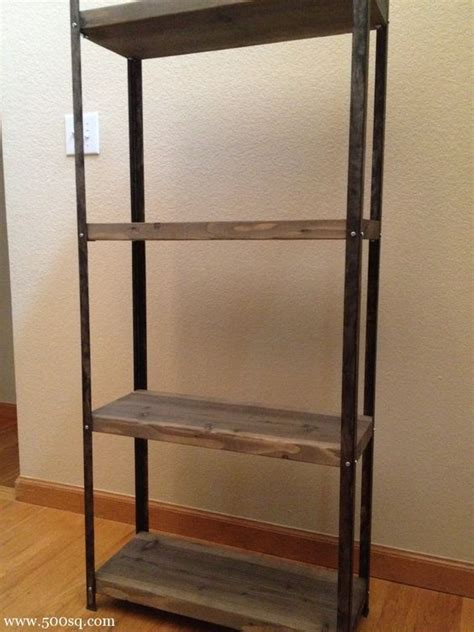 14 99 ikea galvanized hyllis shelf given an industrial