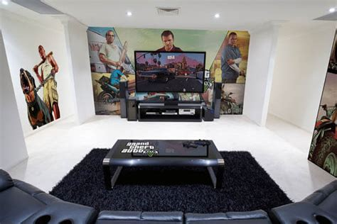 Video Game Wall Murals epic video game room with immersive wall mural design swan