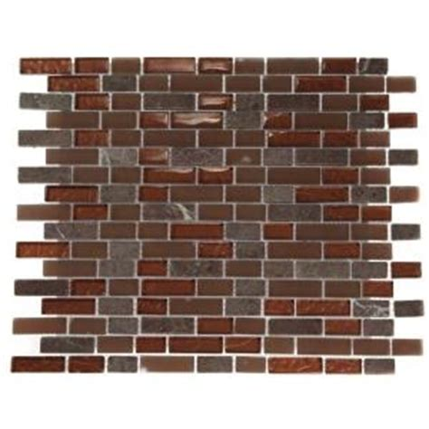 splashback tile brick pattern 12 in x 12 in x 8 mm