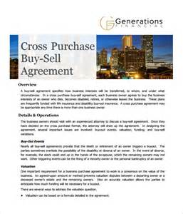 buy sell agreement template free sle cross purchase agreement template 6 free