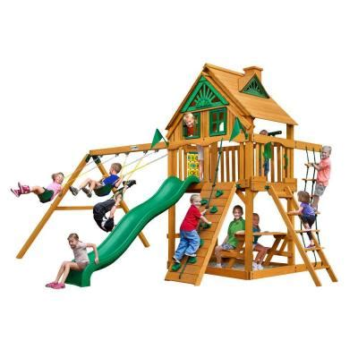 playset without swings swing n slide playsets playful palace wood complete