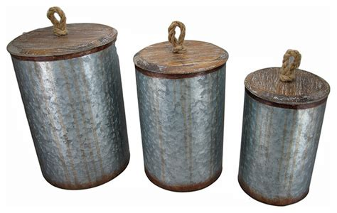 Decorative Storage Bins With Lids by Hammered Metal Nesting Storage Bins With Wooden Lids Set