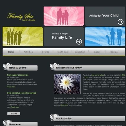 Family Free Website Templates In Css Html Js Format For Free Download 76 29kb Free Family Website Templates