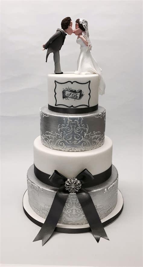 Tier  Ee  Silver Ee   And White I Do  Ee  Wedding Ee   Cake  Ee  Wedding Ee