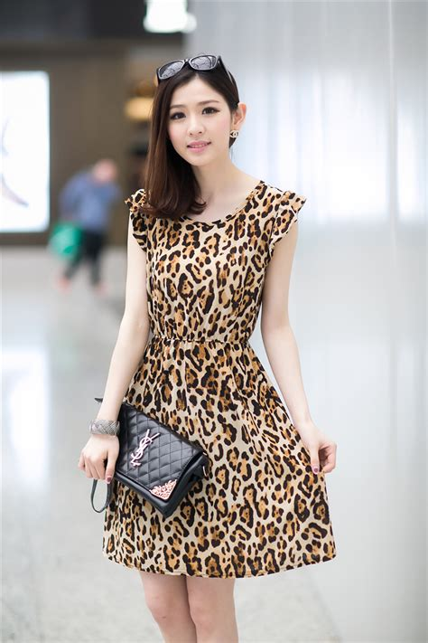 Dress Import Leopard dress motif leopard cantik model terbaru jual murah