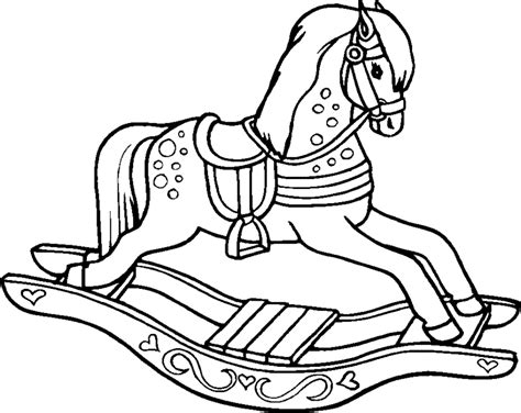 coloring pages of rocking horses free coloring pages of