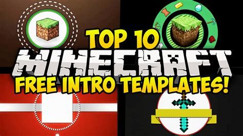 top 10 free minecraft intro templates free download
