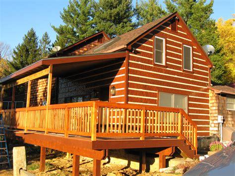 Log Cabin Barns by Log Cabins Myers Barn Shop