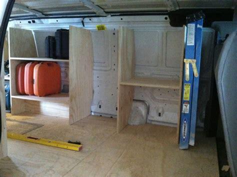 work van layout ideas setting up my e 350 extended cargo van vehicles