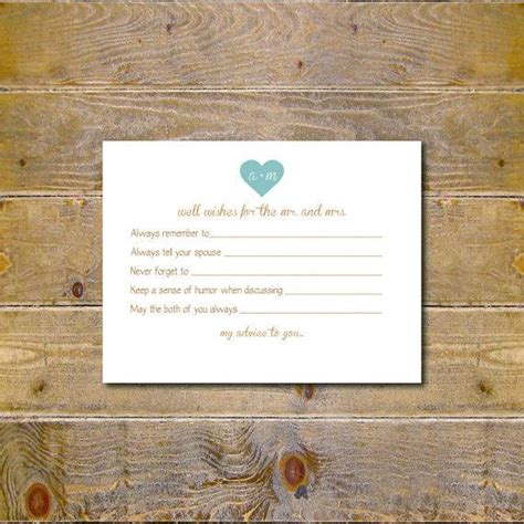 Wedding Wishes And Advice Cards by Guestbook Bridal Shower Activity Well Wishes Cards