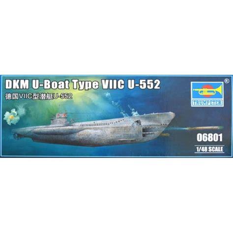 u boat type viic u 552 german wwii u boat type viic u 552 trumpeter 06801 1 48 232 me