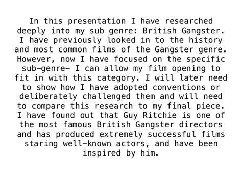 gangster film genre conventions sub genre british gangster