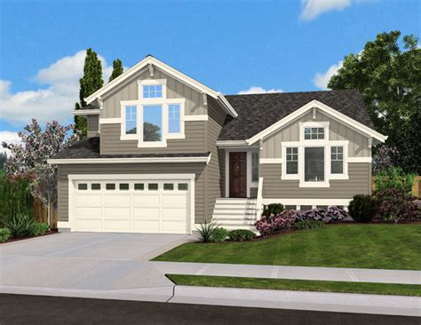 4 level split house split level home plan for narrow lot 23444jd