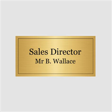 sales director personalised sales director sign