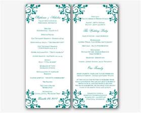free wedding program templates free wedding program templates word best business template